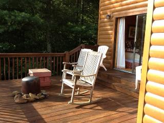 Enjoy the sunrise from the deck or patio of the cabin