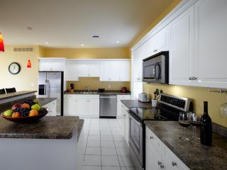 Gourmet well-stocked Kitchen, stainless steel appliances with Bar Island