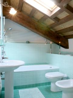 The bathroom with bathtub