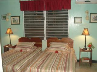Bed room #1  has 2 twins can be made to a king size