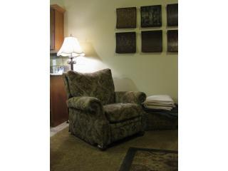 Reclining Chair with Reading Lamp in Living Room