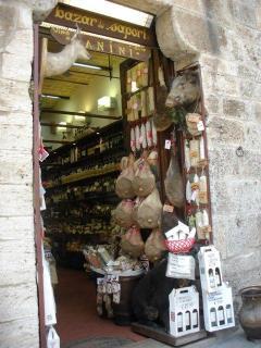 Wild boar (cinghiale) shop in San Gimignano
