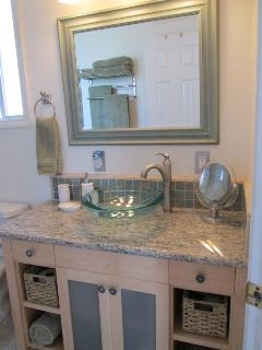 Bathroom Vanity, Vessle Sink & Granite Counter Top