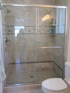 Oversized Walk-in Tile Shower