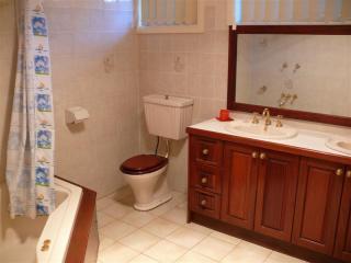 Unité 1 - salle de bains - 2 bassins, toilettes, baignoire grand spa avec douche