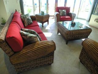 Casa Caribe alma sala de estar a pocos pasos lejos de la playa de arena blanca en la bahía de Tankah