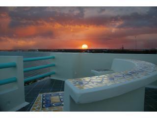 Puesta de sol desde la azotea en Casa alma caribeña en Tankah