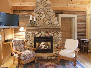 STONE FIREPLACE with GAS LOG; Cable HDTV. Vintage Log Cabin - Original Walls.