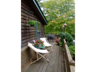 WRAP AROUND DECK with table for 4-6. Nice LEAF SEASON VIEWS of Nearby Mountains