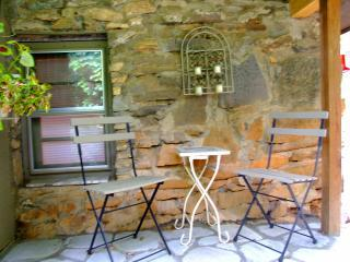 THE GROTTO Covered Porch with Original Hand Crafted Stonework