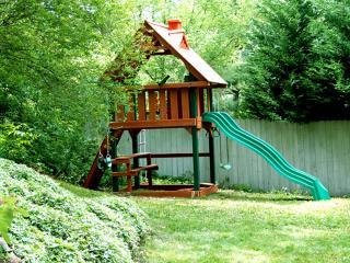 CHILDRENS TREEHOUSE with Swing, Infant Swing, Trapeze, Climbing Wall, Rope Lader, Telescope