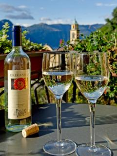 Have a glass of local wine overlooking Lake Como - very romantic !  - Photo by John Soule