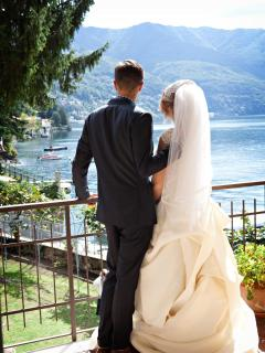 Romantic Lake Como Beach Resort Wedding and Honeymoon