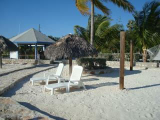 Sunloungers on The Cays Beach