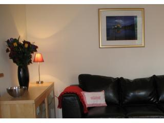 The very comfortable lounge, with the 3 seater bed-settee