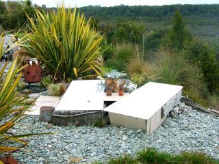 Twin Garden Baths with hot running water