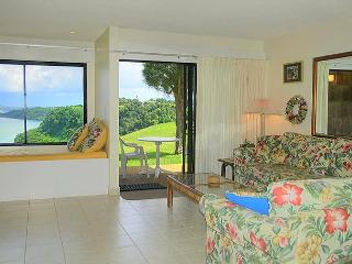 Sealodge J2: Oceanfront views all the way to the lighthouse! Ground floor 1br, Princeville