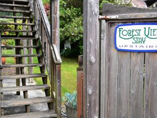 Arcata Stay's Forest View Stay studio vacation rental stairs