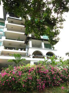 Exterior of the Condominium with it's beautiful bougainvillea