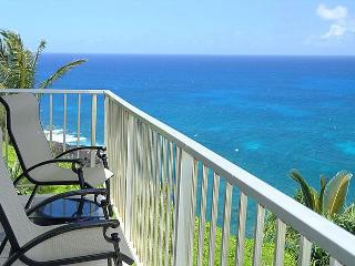 Alii Kai 3204: Prime oceanfront views, top floor corner, very private!, Princeville