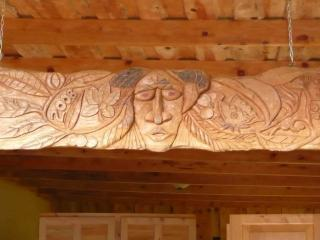 Carving  on Back terraces