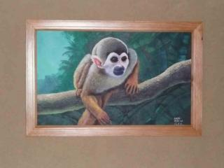 Original oil paintings throughout house