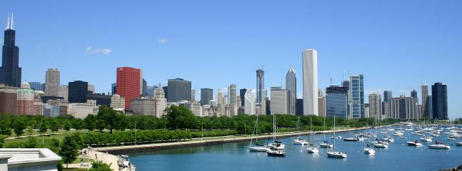 Our lakefront and skyline as seen from the Shedd Aquarium