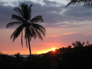 SUNSET FROM OUR LANAI - overlooking the Pacific Ocean