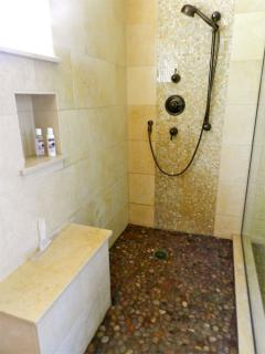 Master Bath stone rain shower