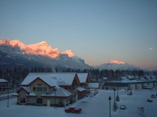 Cascade mountain winter view.