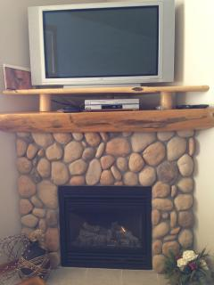 Rundle Stone fireplace