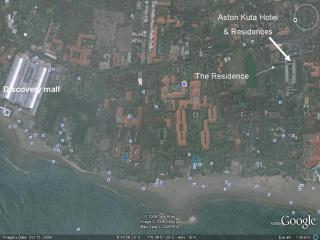 Aerial view of Kuta