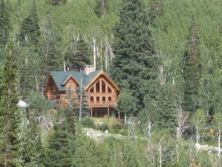 Luxurious Log Cabin close to ski areas, alquiler de vacaciones en Brighton