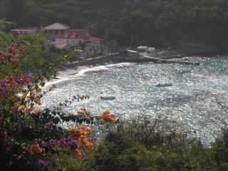 View over Corossol Harbor
