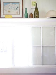 Window over dining room table.