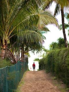 The nearby beach access.