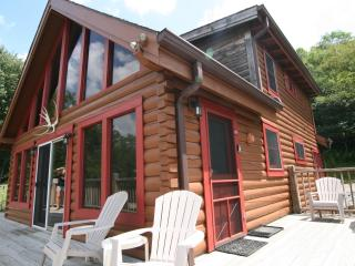 Secluded Luxury Log Cabin 2 Miles to SS Spa WiFi, Snowshoe