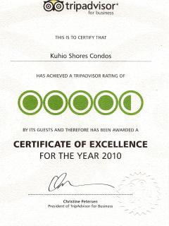 Certificate of Excellence 2010