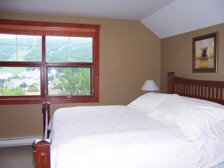 Master bedroom, king bed, great view on the mountain and village