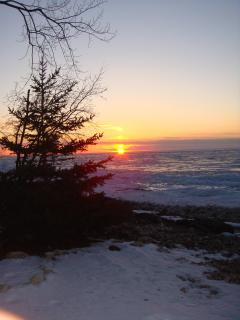 A Winter Sunset on our Beach.