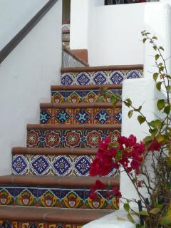 Spanish Steps leading up to the deck and The Casita