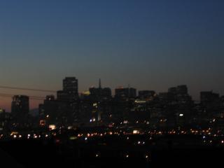 Dusk City View