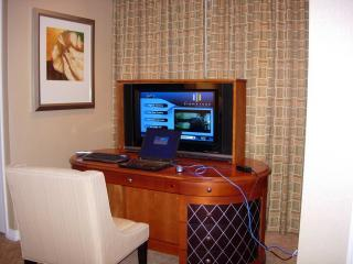 MB Intenet and raised flat screen TV