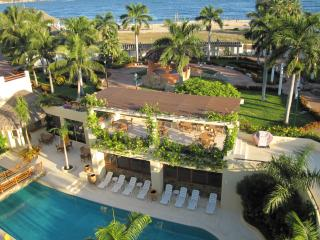 Pool and Beach from balcony Casa Anita