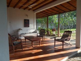 Morning light on villa terrace living