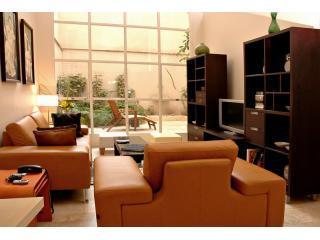 Living Room w  Floor-to-Ceiling Windows to Garden