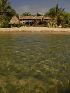 Casa Beya is just steps from the shoreline! (now that is BEACHFRONT!!)