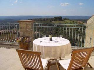 We have a large terrace with spectacular views that faces west towards the sunset