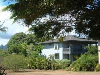 View from Beach of Hale Pua - Rear House on Property - Breakers Suite