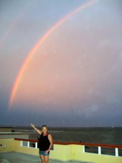 rainbow over casa